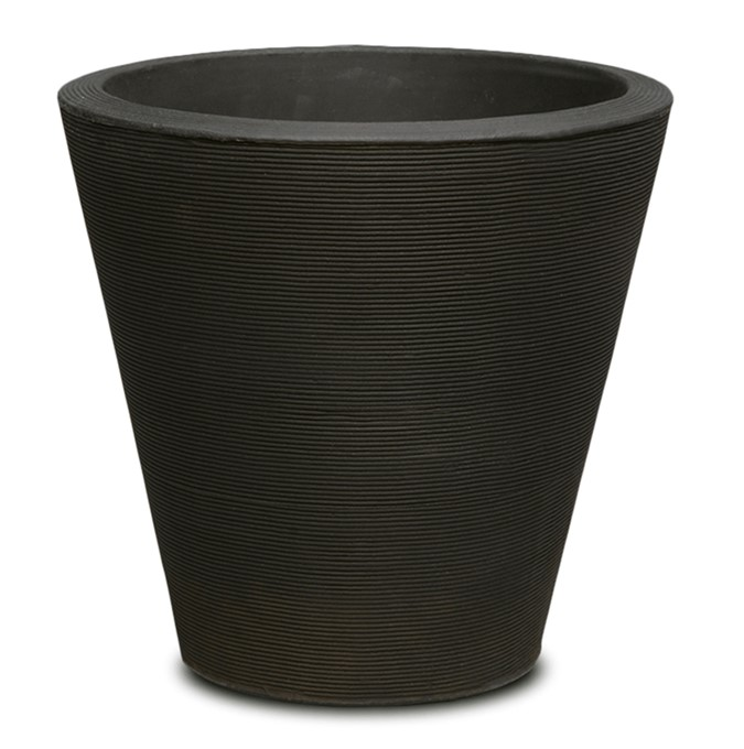 A118094A MADISON 86 CM PLANTER CAVIAR BLACK