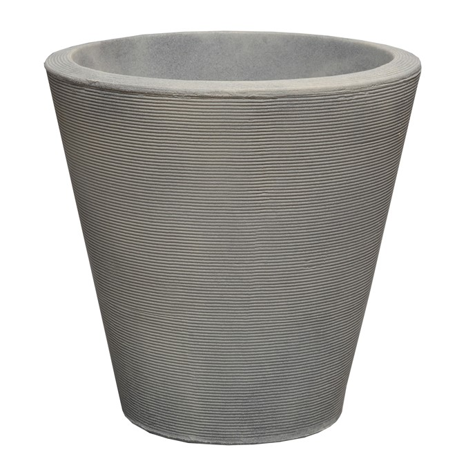 A115080A MADISON 51 CM PLANTER WEATHERED GREY STONE