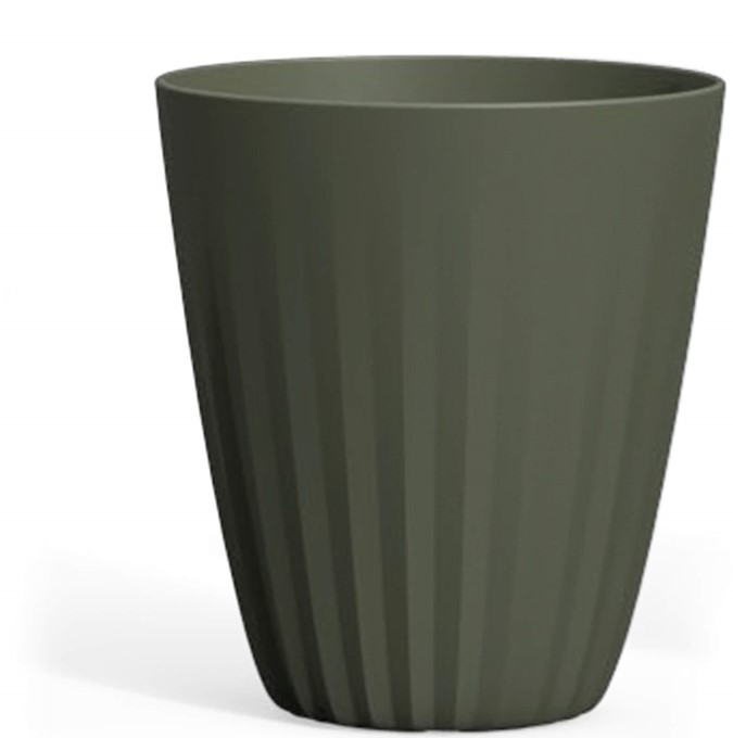 A666982 PLEAT 69 CM TALL PLANTER OLIVE