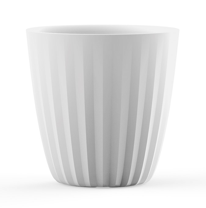 A664800 PLEAT 48 CM PLANTER ALPINE WHITE